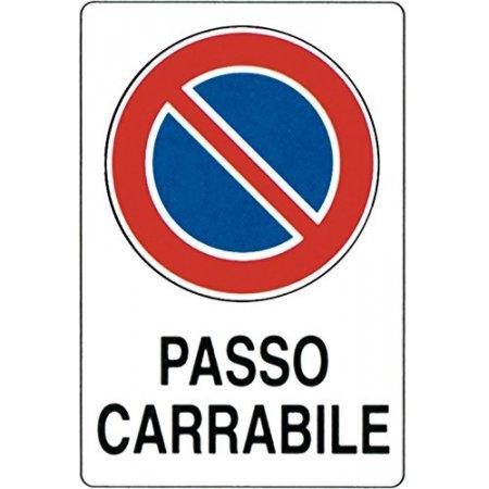 "CARTELLO ""PASSO CARRABILE""..."